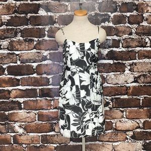 Haven Dress Sleeveless Silk Floral White Small
